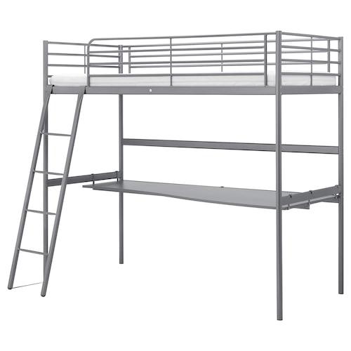SVÄRTA rangka katil loteng+permukaan meja
