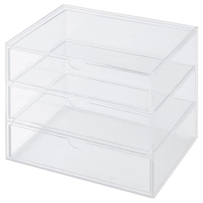 SVASP Kotak storan dengan 3 laci, 17x13x15 cm