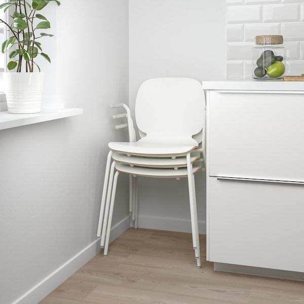 SVENBERTIL Kerusi berlengan, putih/Dietmar putih