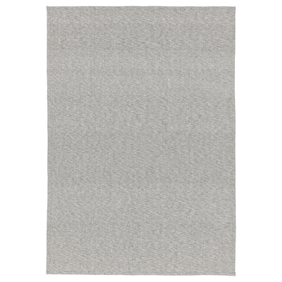 TIPHEDE Ambal, tenunan rata, kelabu/putih, 155x220 cm