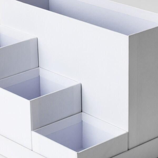 TJENA Penyusun atur meja, putih, 18x17 cm