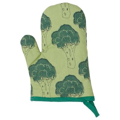 TORVFLY Sarung tangan ketuhar, bercorak/hijau