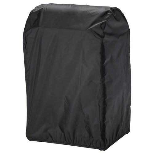 TOSTERÖ sarung penutup barbeku hitam 72 cm 52 cm 111 cm