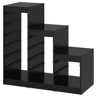 TROFAST Rangka, hitam, 99x44x95 cm