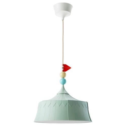 TROLLBO lampu pendan hijau muda 13 W 37 cm 0.5 m 4 m 1.8 m