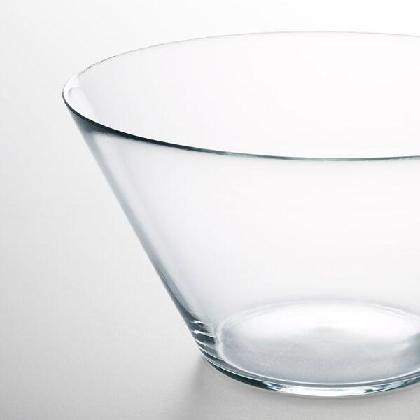 TRYGG Mangkuk hidangan, kaca jernih, 28 cm