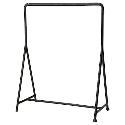 TURBO Rak baju, dalam/luar /hitam, 117x59 cm