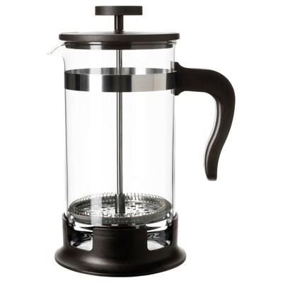 UPPHETTA Pembancuh kopi/teh, kaca/keluli tahan karat, 1 l