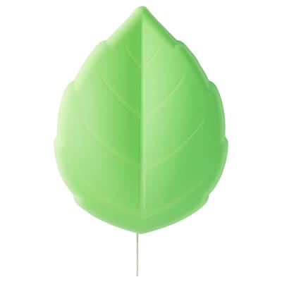 UPPLYST Lampu dinding LED, daun hijau