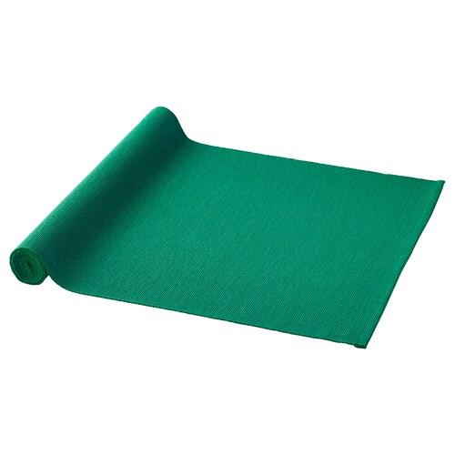 UTBYTT selendang meja hijau gelap 130 cm 35 cm