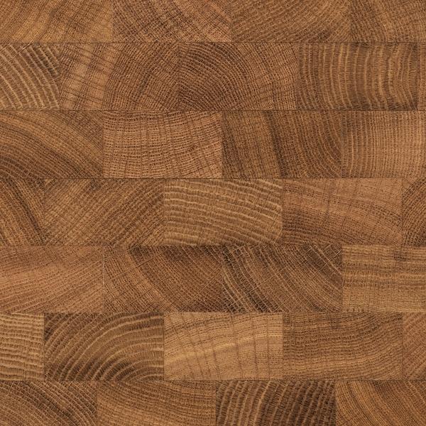 VADHOLMA Pulau dapur, hitam/kayu oak, 126x79x90 cm