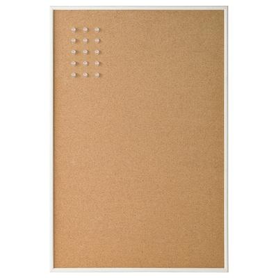 VÄGGIS Papan memo dengan pin, putih, 58x39 cm