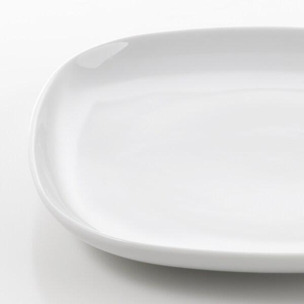 VÄRDERA Piring sisi, putih, 18x18 cm