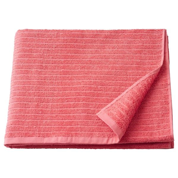 VÅGSJÖN Tuala mandi, merah muda, 70x140 cm