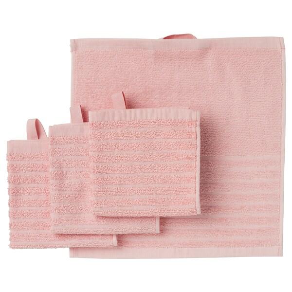 VÅGSJÖN Tuala muka, merah jambu lembut, 30x30 cm