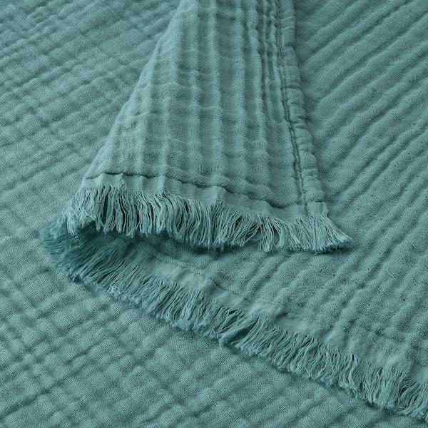 VALLKRASSING Selimut/alas, firus-kelabu, 150x200 cm