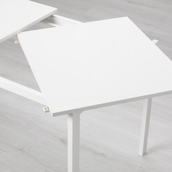 VANGSTA Meja boleh dipanjangkan, putih, 120/180x75 cm
