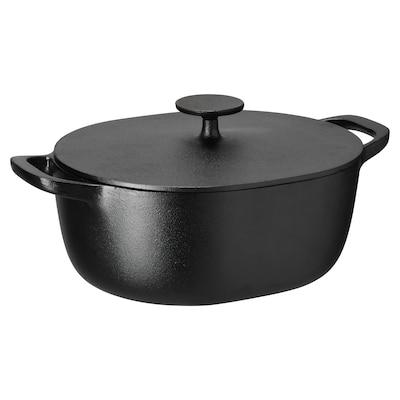 VARDAGEN Kaserol dgn penutup, besi tuang, 5 l
