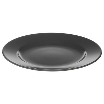 VARDAGEN Piring sisi, kelabu gelap, 21 cm