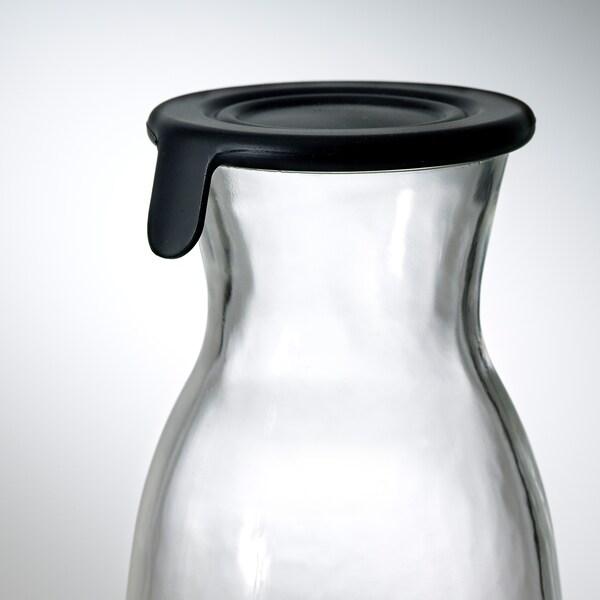VARDAGEN Serahi berpenutup, kaca jernih, 1.0 l