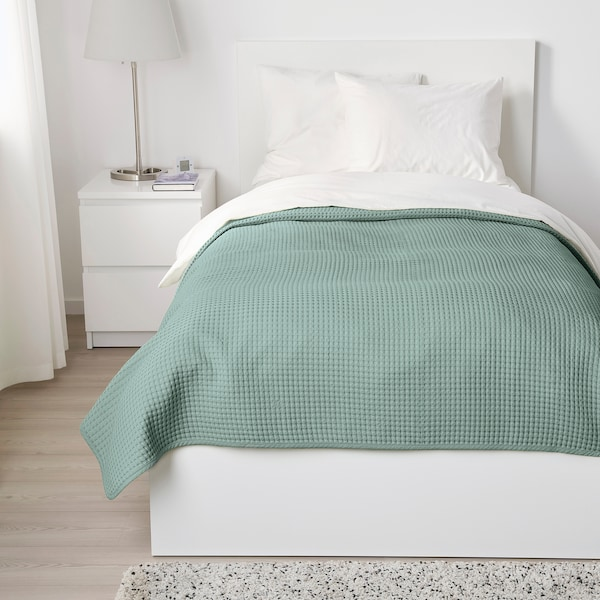 VÅRELD Alas katil, kelabu hijau muda, 150x250 cm