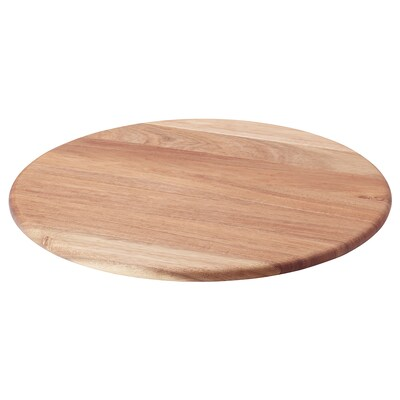 VATTENDANS Papan pusing atas meja, akasia, 47 cm