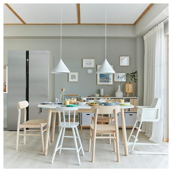 VEDBO Meja makan, putih, 160x95 cm