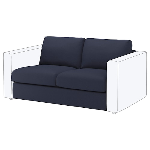 VIMLE seksyen 2 tempat duduk Orrsta hitam biru 80 cm 66 cm 141 cm 98 cm 4 cm 141 cm 55 cm 45 cm