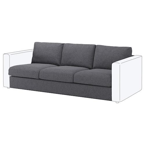 VIMLE seksyen 3 tempat duduk Gunnared kelabu sederhana 80 cm 66 cm 211 cm 98 cm 4 cm 211 cm 55 cm 45 cm