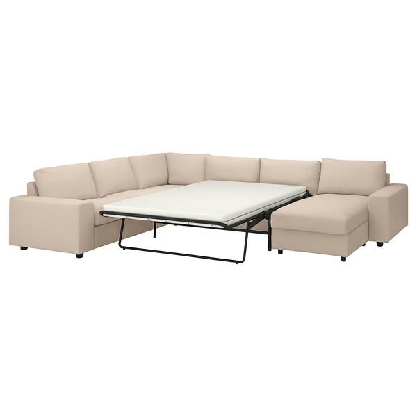 VIMLE Katil sofa penjuru, 5 tempat duduk