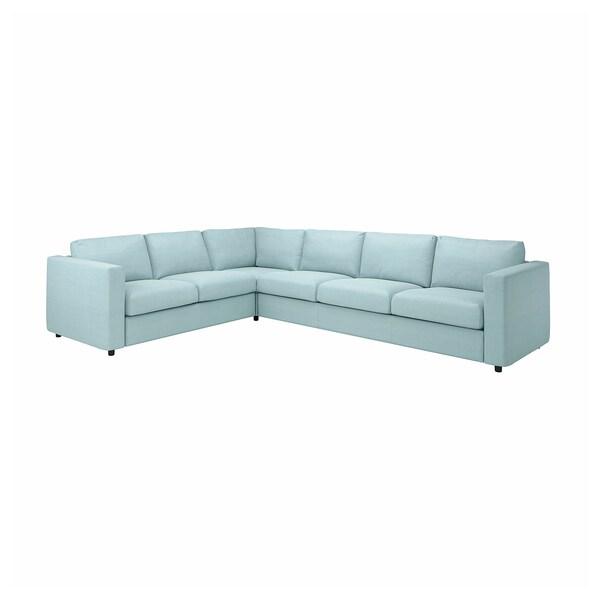 VIMLE Sarung sofa penjuru. 5 tempat duduk