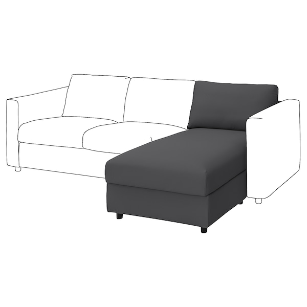 VIMLE Sarung untuk seksyen chaise longue
