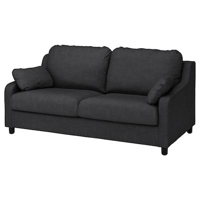 VINLIDEN Sofa 3 tempat duduk, Hillared antrasit