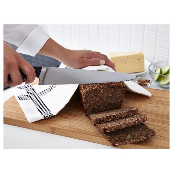 VÖRDA Pisau roti, hitam, 23 cm