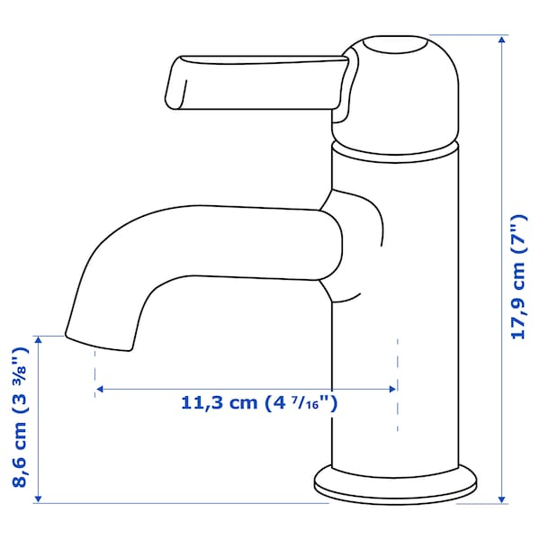 VOXNAN paip campuran sink dgn penapis berkrom 18 cm