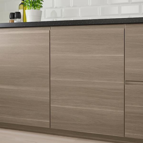 VOXTORP pintu kesan kayu walnut 59.6 cm 60.0 cm 60.0 cm 59.7 cm 2.1 cm