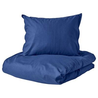 ÄNGSLILJA quilt cover and 2 pillowcases dark blue 125 /inch² 2 pack 220 cm 240 cm 60 cm 70 cm