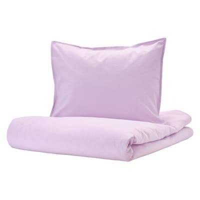 ÄNGSLILJA quilt cover and 2 pillowcases light lilac 125 /inch² 2 pack 220 cm 240 cm 60 cm 70 cm