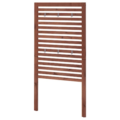 ÄPPLARÖ wall panel, outdoor brown stained 80 cm 158 cm