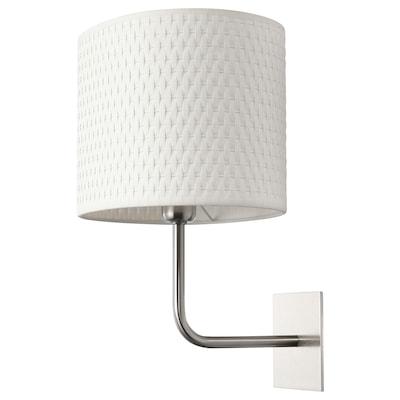 ALÄNG wall lamp nickel-plated/white 40 W 25 cm 24 cm 34 cm 2.1 m