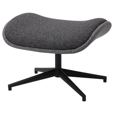 ÄLEBY Footstool for swivel armchair, Gunnared medium grey/dark grey