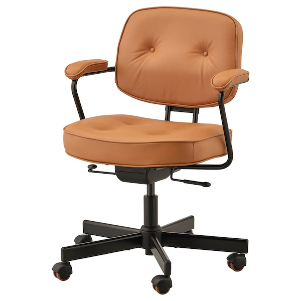 Bureaustoel Leer Bruin.Alefjall Office Chair Grann Golden Brown Ikea