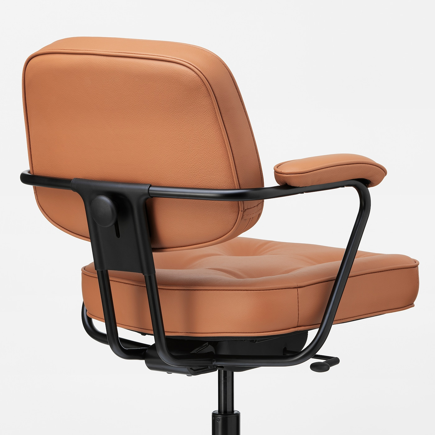 Leren Ikea Bureaustoel.Alefjall Office Chair Grann Golden Brown Ikea
