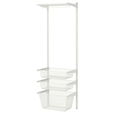 ALGOT wall upright/mesh baskets white 65 cm 41 cm 197 cm