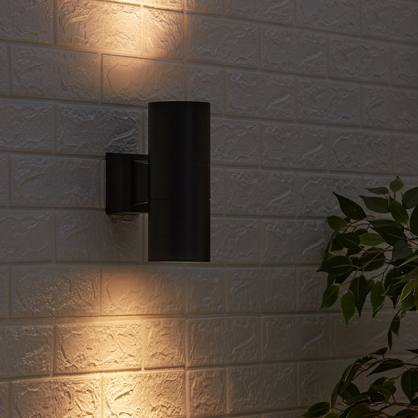 ALLARP Wall lamp, outdoor black, 23 cm