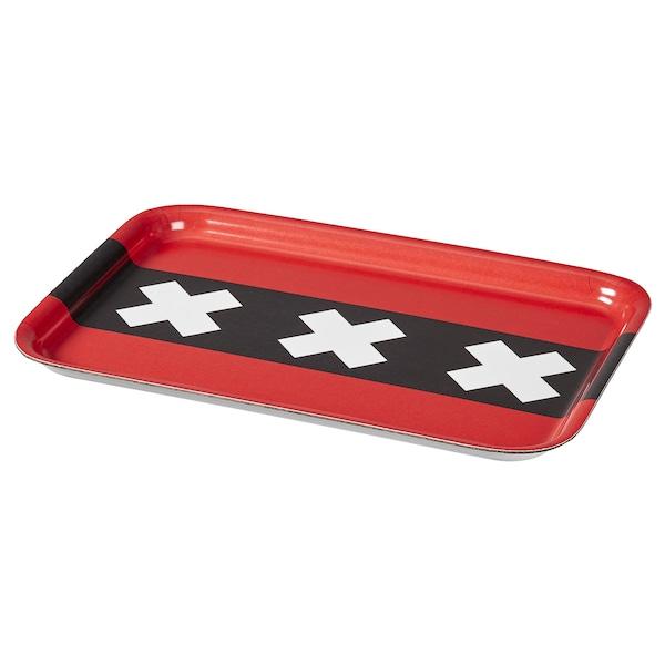 ALLMÄNNELIG Tray, flag motif, 28x20 cm