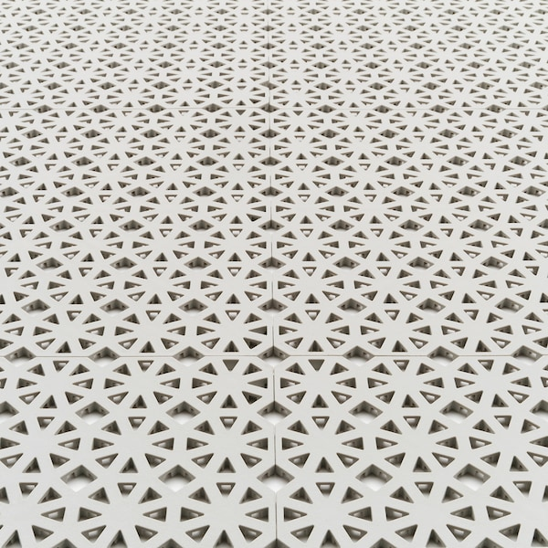 ALTAPPEN floor decking, outdoor light grey 0.81 m² 30 cm 30 cm 0.6 cm 0.09 m² 9 pack