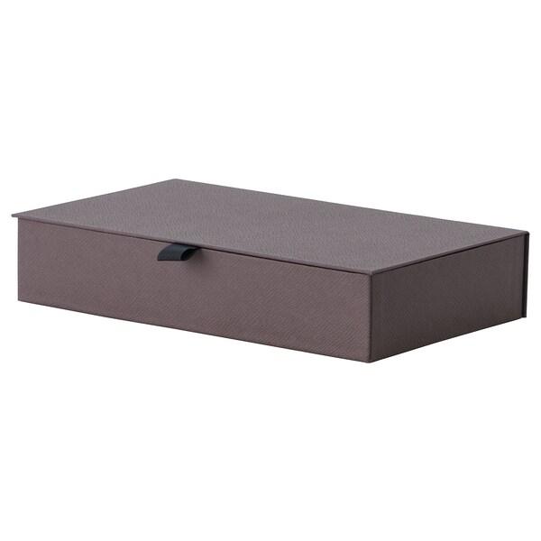 ANILINARE Jewellery box with compartments, dark brown, 30x18x6 cm
