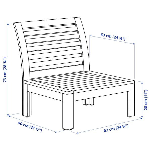 ÄPPLARÖ One-seat section, outdoor, brown stained