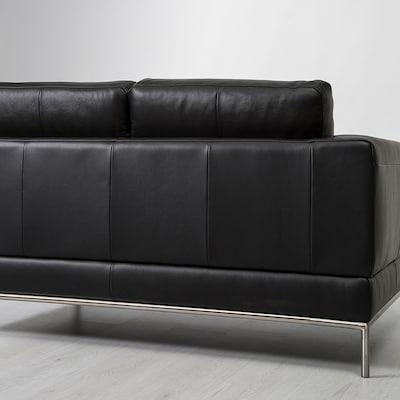 Zwart Leren Bank Ikea.Leather Three Seat Sofas Ikea